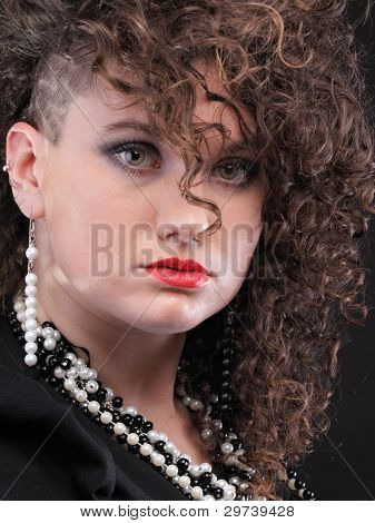 Ear Super Piercing Woman Curly Girl