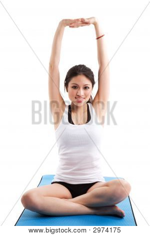 Asian Woman Exercising