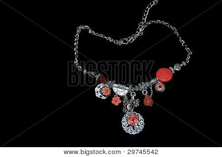 Rhodium coated necklace rhodium coating