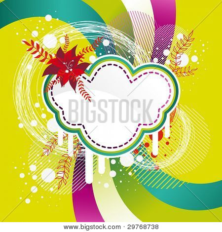 colorful floral banner with flower