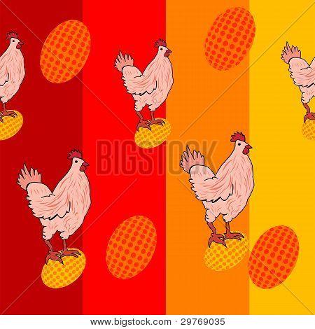 Cute Chicken Pattern