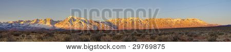 Eastern Sierra Sunrise Panorama