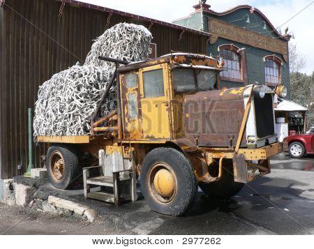 Dump Truck Full Of Antlers