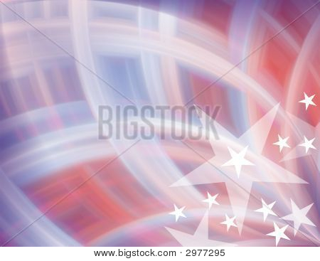 Red, White & Blue Abstract