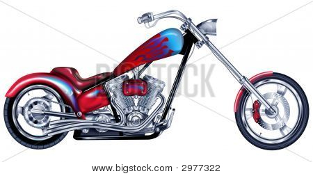Custom Red Chopper
