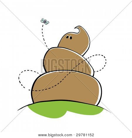 Poo Character Vector Illustration.