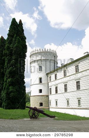 part of lordly renaissance castle in Krasiczyn