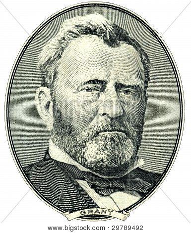 Ulysses S. Grant retrato recorte