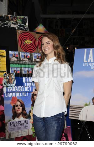 LOS ANGELES - FEB 7:  Lana Del Rey at a performance and CD signing for her album 'Born To Die' at Amoeba Records on February 7, 2012 in Los Angeles, CA