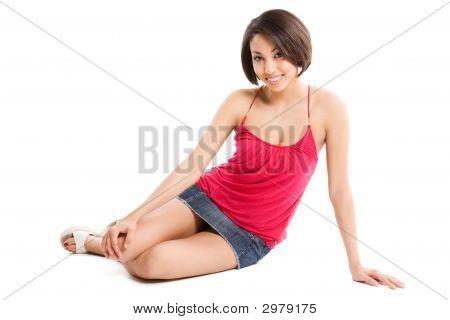 Casual schöne Frau