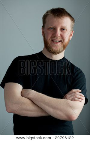 Cheerful Red-bearded Smiling Guy