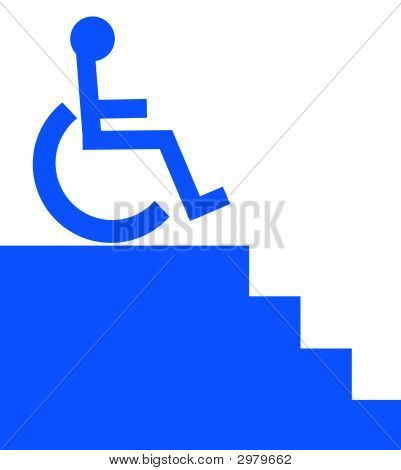Handicap Unable To Go Down Stairs