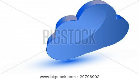 Blue Cloud Computing Symbol