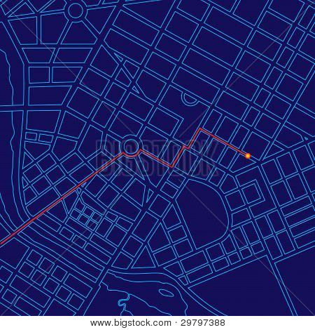 Digital Map Tracking With Gps
