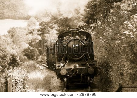 Steam Train In Sepia46