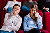 pic of watching movie  - Couple and other people - JPG