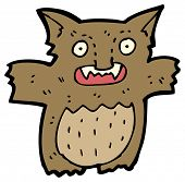 (raster version) cartoon furry little monster poster