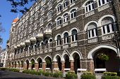 image of british bombay  - luxury historic hotel Taj Mahal Palace in Mumbai  - JPG