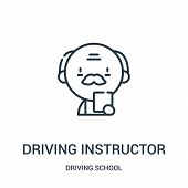 Driving Instructor Icon Isolated On White Background From Driving School Collection. Driving Instruc poster