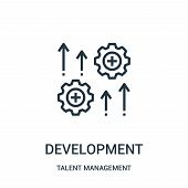 Development Icon Isolated On White Background From Talent Management Collection. Development Icon Tr poster