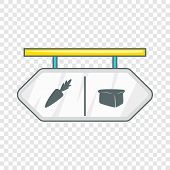Pointer Shop Icon. Flat Illustration Of Pointer Shop Vector Icon For Web poster