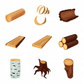 Vector Design Of Signboard  And Wood Logo. Set Of Signboard  And Wooden Stock Vector Illustration. poster