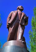Lenin Monument In Kiev poster