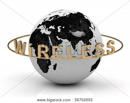 Gold Wireless And Gold Ring,