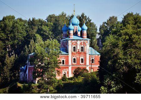 Church In Forest In Russia