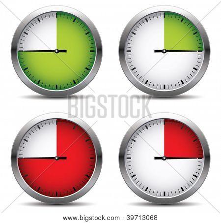 Clock set.Vector illustration