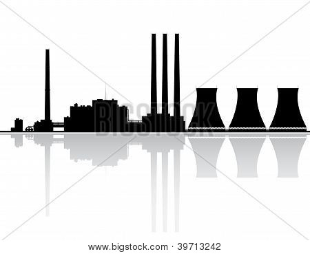 Power Plant Silhouette