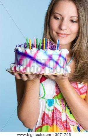 Geburtstag Kuchen lady