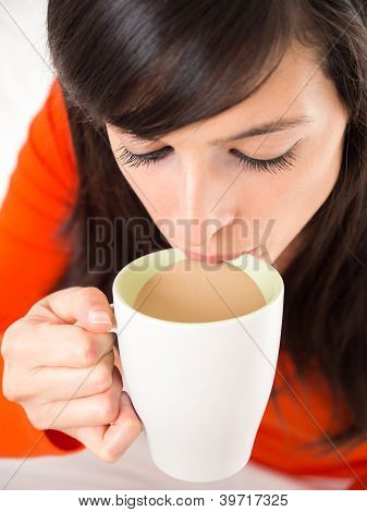 Sipping Hot Coffee