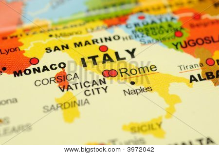 Italy On Map