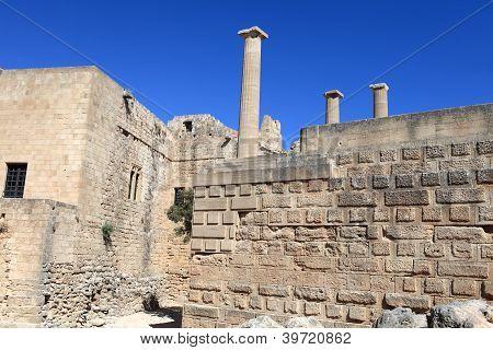 Interior Of Lindos Acropolis
