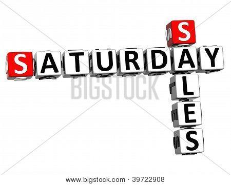 3D Saturday Sales Crossword