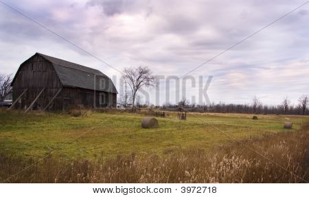 Old Barn On Stormy Day