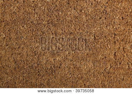 Coir natural fiber doormat, suitable for use as background or texture. Brand new and clean.