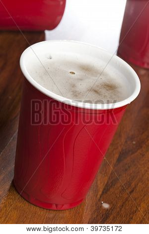 Beer In A Disposable Red Cup