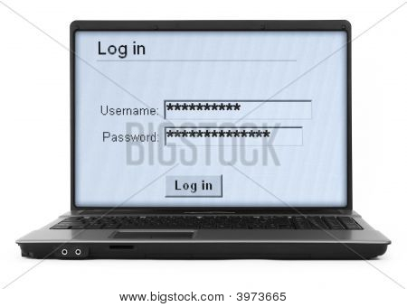 Notebook With Log In Screen