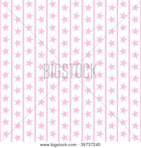 Pale Pink Stars & Stripes