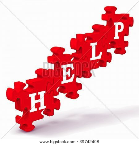 Help Puzzle Shows Support And Advisory