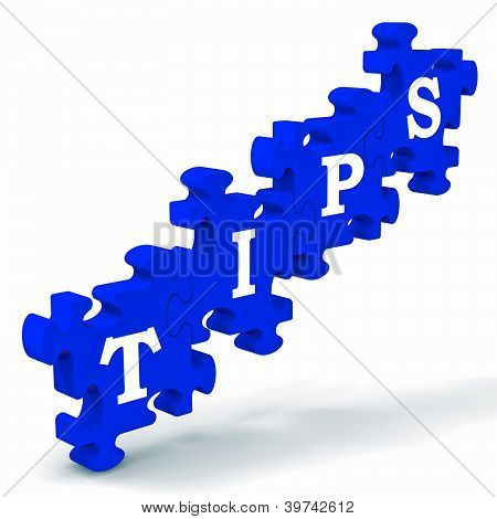 Tips Puzzle Showing Tricks And Hints