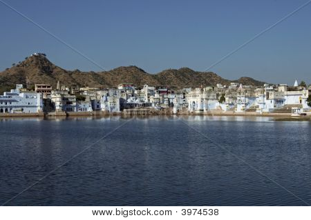Sacred Lake At Pushkar In India