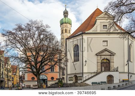 Church In A Small Town In Germany