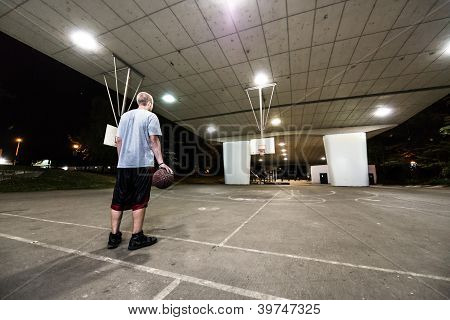 Basketball Player Outdoors