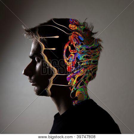 Conceptual Image Of A Human Face