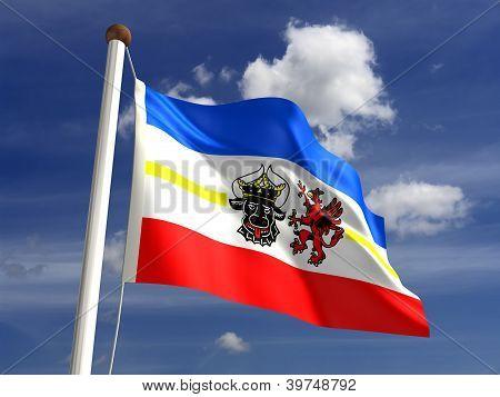 Mecklenburg-west Pomerania Flag Germany