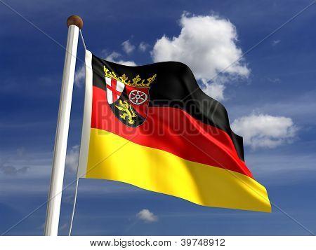 Rhineland-palatinate Flag Germany