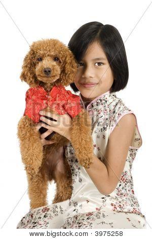 Girl & Dog